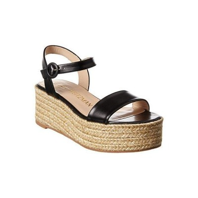 レディース シューズ  Stuart Weitzman Taborah Leather Wedge Espadrille