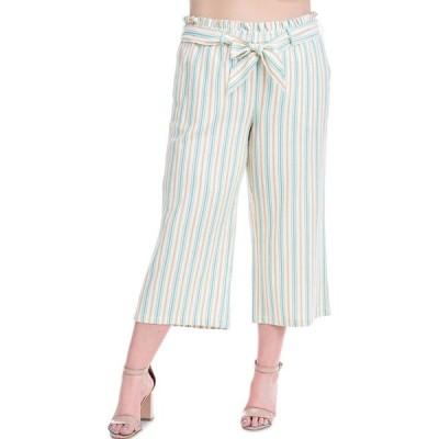 フィーバー Fever レディース クロップド 大きいサイズ ボトムス・パンツ Plus Size Striped Cropped Pants Celosia