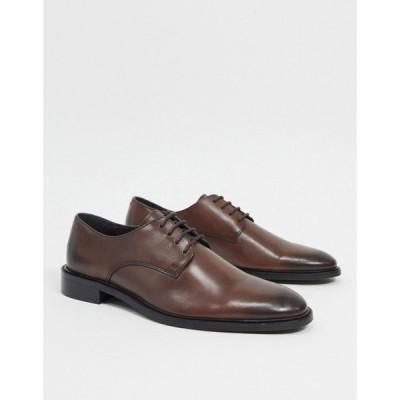トップマン Topman メンズ 革靴・ビジネスシューズ メダリオン シューズ・靴 Brogues ブラウン