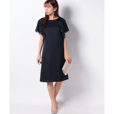 【エイミーパール(ドレス)】ラッフル袖ドレス