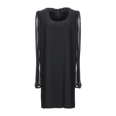 COMPAGNIA ITALIANA ミニワンピース&ドレス ブラック 46 ポリエステル 100% ミニワンピース&ドレス