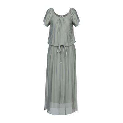 バイユー B.YU ロングワンピース&ドレス ミリタリーグリーン XS レーヨン 70% / シルク 30% ロングワンピース&ドレス