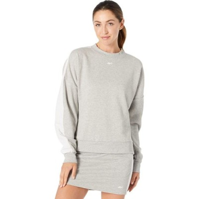 リーボック Reebok レディース スウェット・トレーナー トップス Training Essentials Sweatshirt Medium Grey Heather