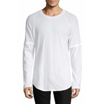 ヘルムートラング Men Clothing Layered Raglan-Sleeve Tee