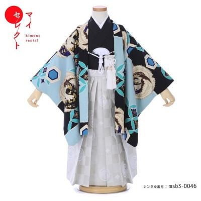 七五三 着物 3歳 男の子 レンタル JAPAN STYLE ブランド フルセット 男児 753 msb3-0046