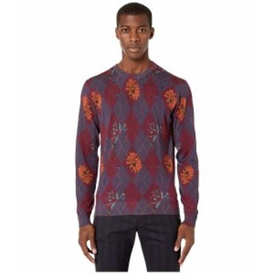 エトロ メンズ ニット&セーター アウター Printed Crew Neck Sweater Red