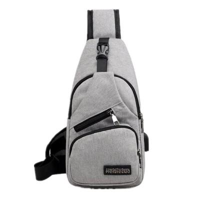 男性の胸バッグショルダーバッグ USB 充電バッグ 男性抗盗難 学校夏ショート旅行メッセンジャーバッグ