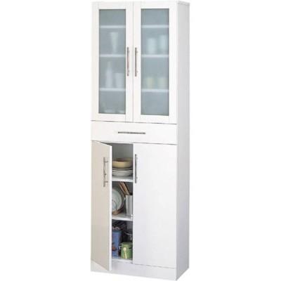 食器棚収納 レンジ台 カウンター 食器棚 カトレア 幅60cm高さ180