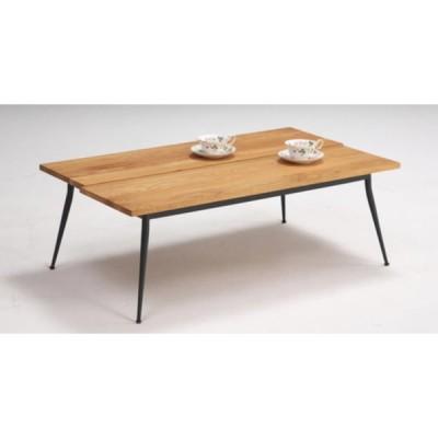 送料無料  センターテーブル オーク 長方形 無垢材 アイアン脚 オイル仕上げ 幅130