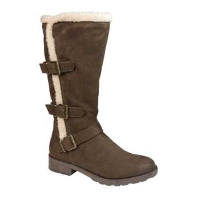 ホワイトマウンテン レディース ブーツ&レインブーツ シューズ Santell Tall Buckle Boot Brown Waxy Fabric