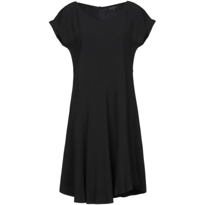 ANTONELLI ミニワンピース&ドレス ブラック 38 レーヨン 70% / アセテート 26% / ポリウレタン 4% ミニワンピース&ドレス