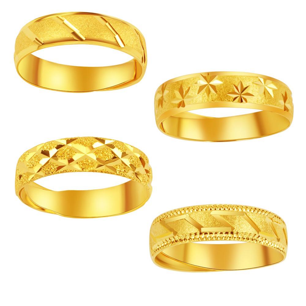 純金9999 黃金戒指 時尚格紋戒 0.5 錢重 活動戒圍 送禮大方 母親節禮物 兩款選一  迎鶴金品