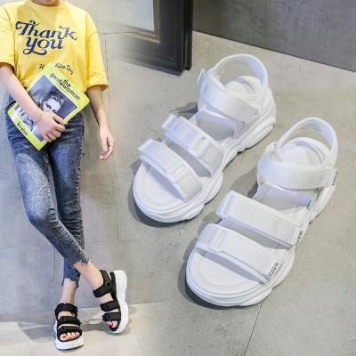 スポーツサンダル 厚底 歩きやすいスポサン フラットサンダル スニーカーサンダルレディース 夏 コンフォートサンダル 新作 靴 sandal 疲れない