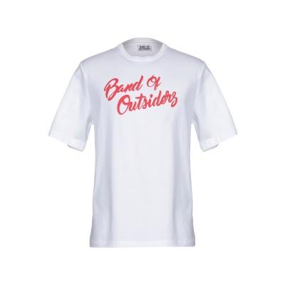 バンドオブアウトサイダーズ BAND OF OUTSIDERS T シャツ ホワイト M オーガニックコットン 100% T シャツ