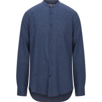 エン アヴァンセ EN AVANCE メンズ シャツ トップス Linen Shirt Dark blue