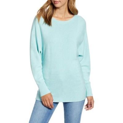 トミー バハマ TOMMY BAHAMA レディース ニット・セーター トップス Bonita Boatneck Ribbed Cotton Blend Sweater Glass Bead Blue Heather