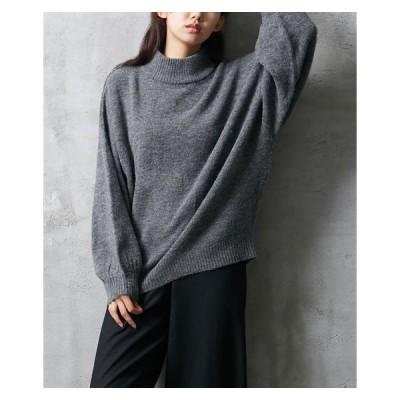 セーター ニット レディース 洗濯機で洗える 袖ボリュームゆったり  M ニッセン