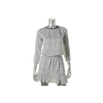 デザイナー ドレス ワンピース デザインer 2211 レディース ホワイト レーヨン PKeyhole 長袖s カジュアル ドレス BHFO