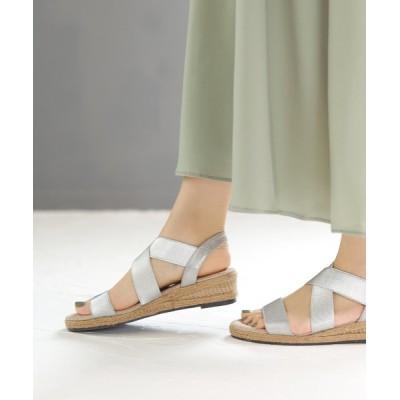 SESTO / ゴムでフィットするので靴ズレしにくい3.5cmヒールゴムフィットサンダル WOMEN シューズ > サンダル