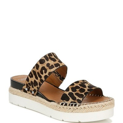 フランコサルト レディース サンダル シューズ Sarto By Franco Sarto Cappy Leopard Print Calf Hair Espadrille Platform Sandals Leopard