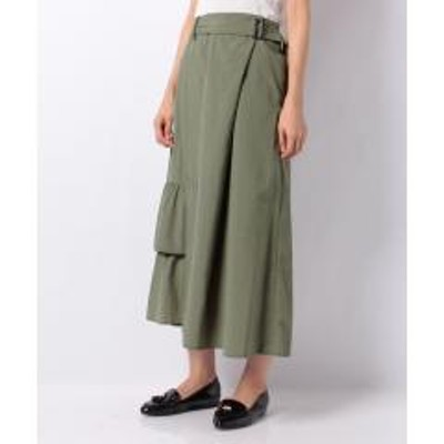 INTERPLANET(インタープラネット)【RAW FUDGE】裾フリルデザインラップ風スカート