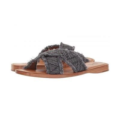 Frye フライ レディース 女性用 シューズ 靴 サンダル Hayley Frayed Slide - Navy Raffa Fabric