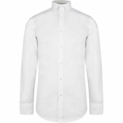 ヒューゴ ボス Boss メンズ シャツ トップス Hugo Plain Shirt With Trim White