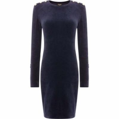 ジューシークチュール Juicy Couture レディース ワンピース ワンピース・ドレス Stretch Velour Solid Fitted Dress Navy
