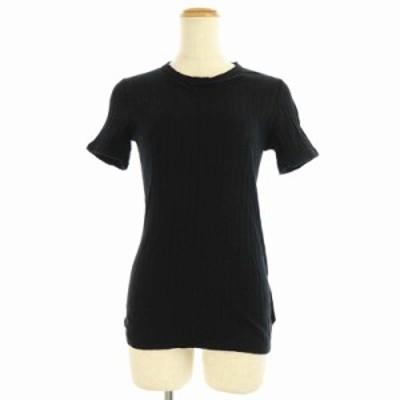 【中古】トリココムデギャルソン tricot COMME des GARCONS AD2003 カットソー 半袖 黒 /KN ■OS レディース