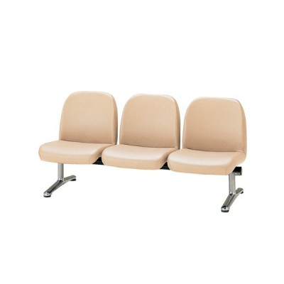 【法人限定】 ロビーチェア 3人用 ベンチ 抗菌 防汚 シンプル カラフル 椅子 チェア ロビー オフィス  LA-3L