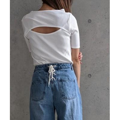 tシャツ Tシャツ Per sist ence/パーシエンス テレコ バックオープンTシャツ