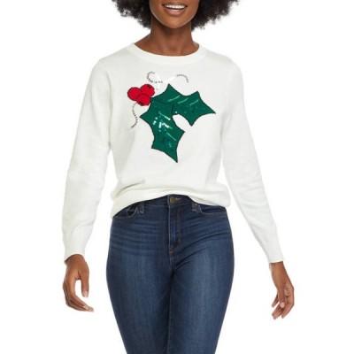 キム ロジャース レディース ニット・セーター アウター Petite Holly Intarsia Sweater