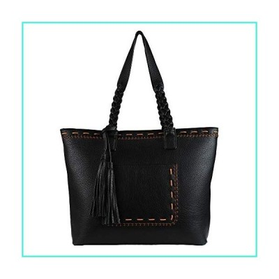 【新品】Concealed Carry Purse - Locking Cora Stitched Gun Tote by Lady Conceal (Black)(並行輸入品)
