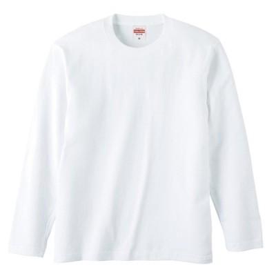 Tシャツ 長袖 メンズ ハイクオリティー 5.6oz XL サイズ ホワイト 無地 ユナイテッドアスレ CAB