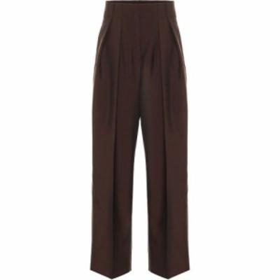 アクネ ストゥディオズ Acne Studios レディース ボトムス・パンツ Wool and mohair high-rise pants Chocolate Brown