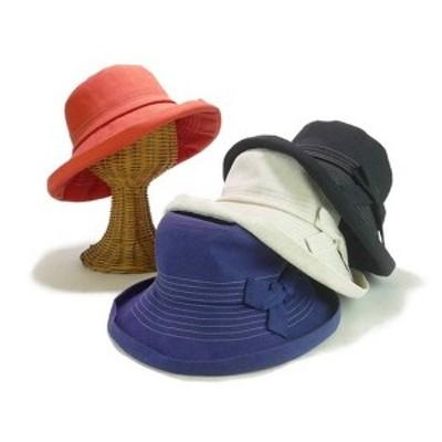 リボンステッチエッジアップハット レディース帽子