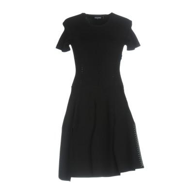 ディースクエアード DSQUARED2 ミニワンピース&ドレス ブラック XS レーヨン 83% / ポリエステル 17% / シルク ミニワンピー