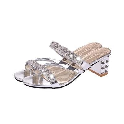 Cozy Maker C&M ミュール サンダル レディース シューズ カジュアル チャンキーヒール シンプル 歩きやすい 美脚 可愛い 靴