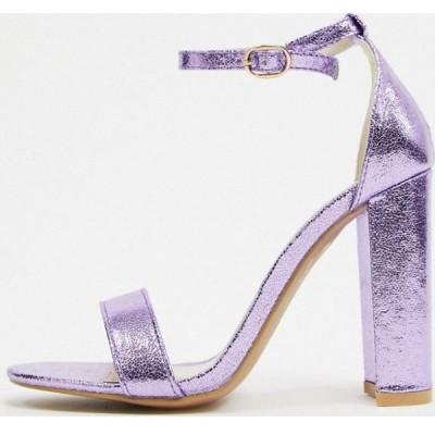 グラマラス Glamorous レディース ヒール シューズ・靴 barely there block heels in lilac ライラック