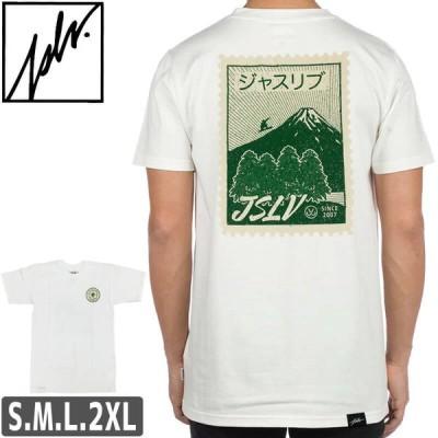 ジャスリブ JSLV スケボー Tシャツ スノボー サーフ POSTAGE TEE ホワイト NO14