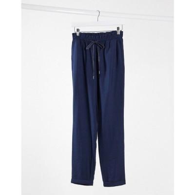 ピンキー Pimkie レディース ボトムス・パンツ tapered trouser in navy ネイビー