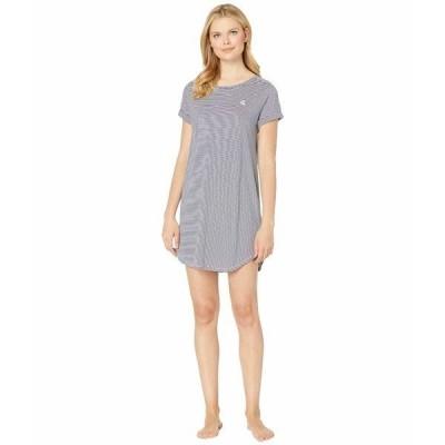 【当日出荷】 ラルフローレン レディース Roll Cuff Sleepshirt Blue Stripe 【サイズ XL】