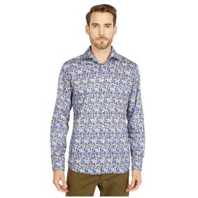 エトン メンズ シャツ トップス Slim Fit Flower Twill Shirt