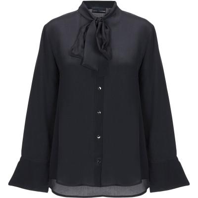 EUROPEAN CULTURE シャツ ブラック XS シルク 100% シャツ