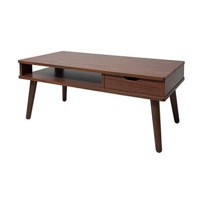 宮武製作所 ローテーブル 幅80x奥40x高さ37cm ブラウン 天然木 CT-8040