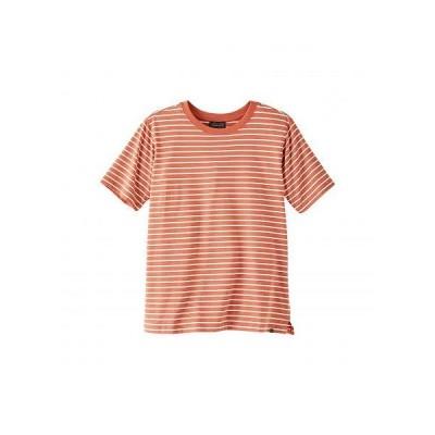 Pendleton ペンドルトン レディース 女性用 ファッション Tシャツ Deschutes Stripe Tee - Terra Cotta/White