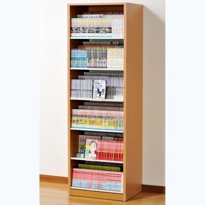 オークス ひな段収納コミックラック ナチュラル 収納枚数:最大648冊。DVDも収納可能。 HCS590N 返品種別A
