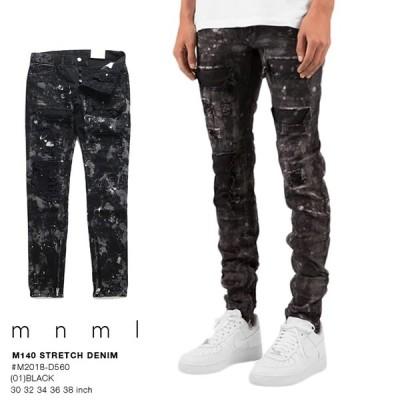 ミニマル mnml ジーンズ デニム ロングパンツ スリムフィット ジーパン Gパン ワーク 長ズボン メンズ b系 かっこいい おしゃれ M140 ストレッチ 細い