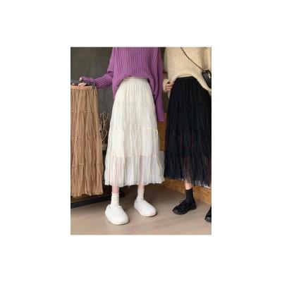 【送料無料】スカート 秋冬 と セーターの女性 年 韓国風 ハイウエスト 着やせ 褶 | 364331_A64258-5397221