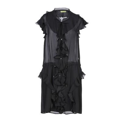 VERSACE JEANS ミニワンピース&ドレス ブラック 42 ポリエステル 100% ミニワンピース&ドレス
